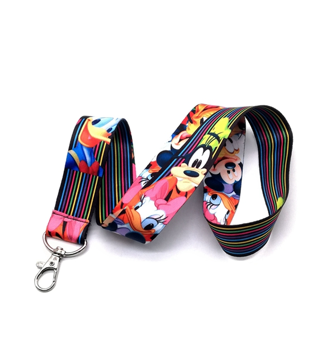 1 pcs cartoon mickey minnie Donald Duck Pluto Neck Lanyard keychain Mobile Phone Strap ID Badge Holder Rope Key Chains image