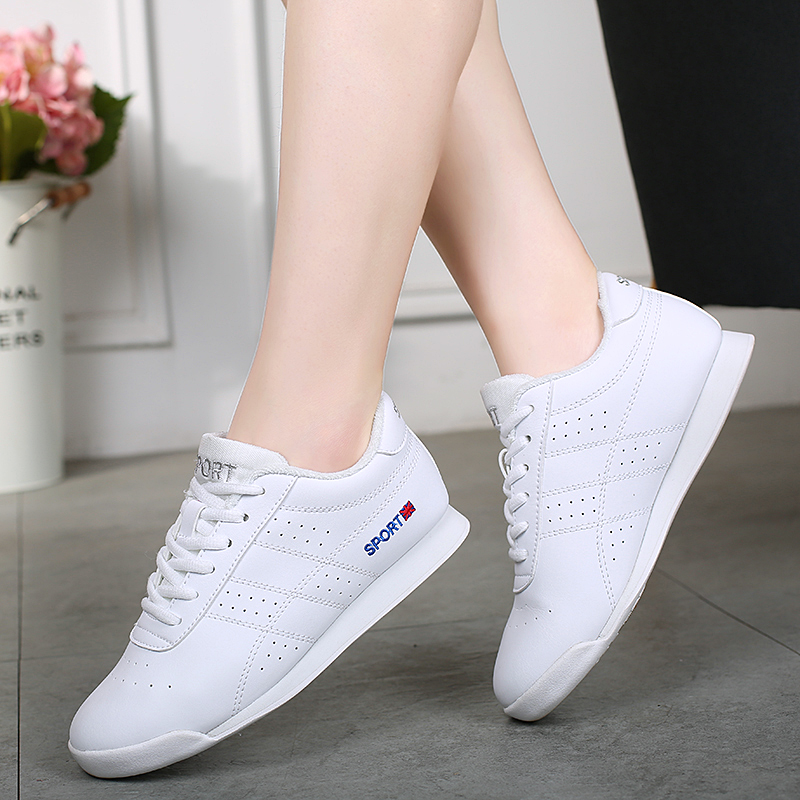New Arrival Kids' Sneakers Children's Soft Microfiber Modern Jazz Dance Shoes White Competitive Aerobics Shoes