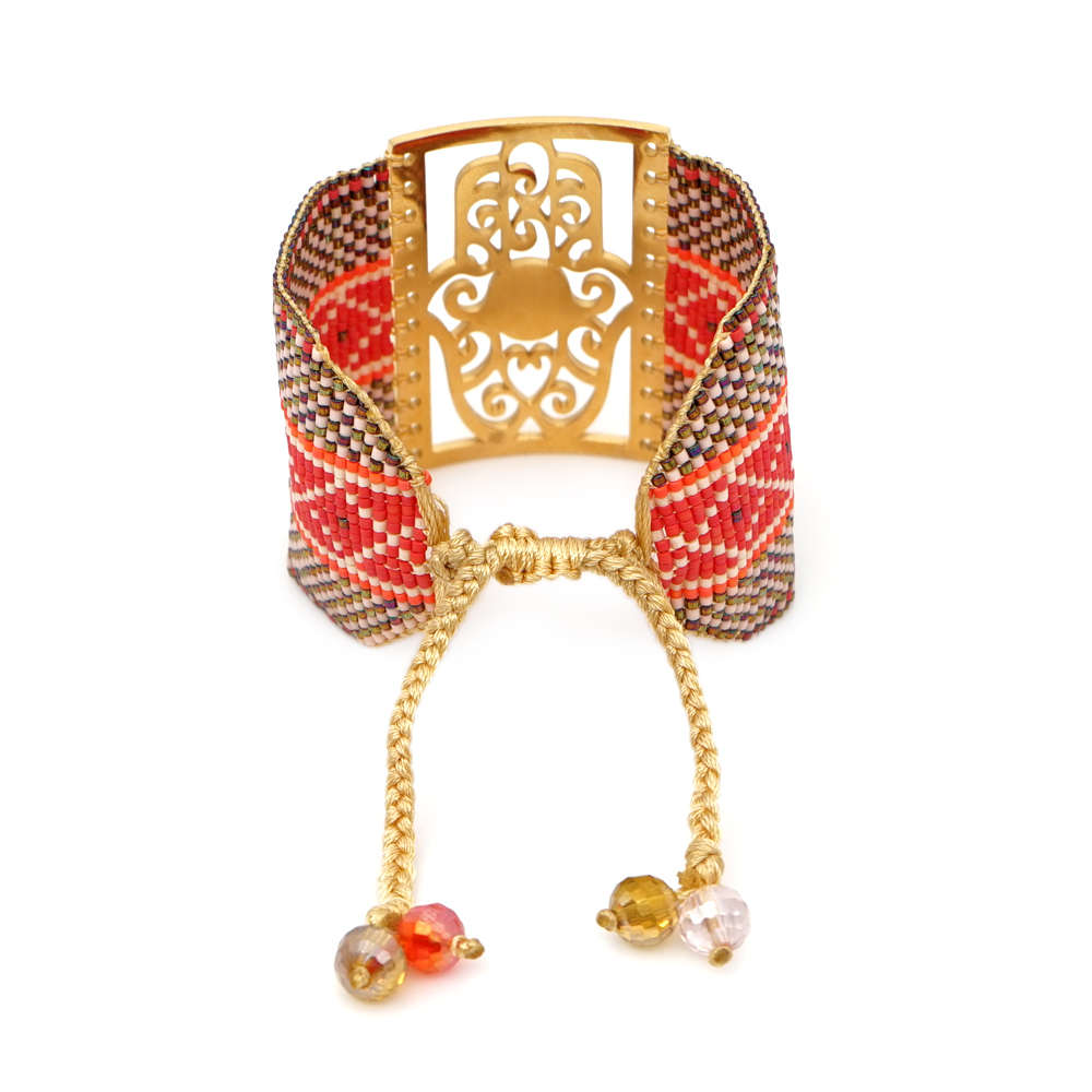 Image 2 - Go2boho MIYUKI Evil Eye Bracelet Jewelry Women Pulseras Mujer 2019 Bohemian Summer Hamsa Hand Cuff Bracelets Handmade Loom WovenCharm Bracelets   -