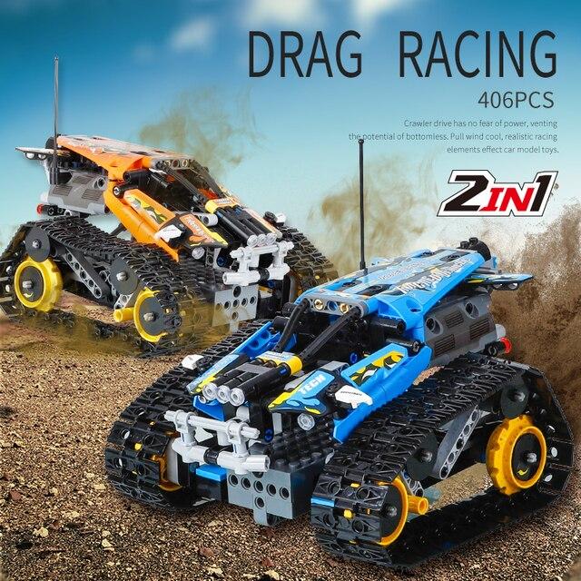 تكنيك RC تتبع حيلة متسابق اللبنات صالح Legoing الخالق 42095 APP التحكم عن بعد سيارة الطوب اللعب الهدايا للأطفال