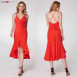 Image 3 - פשוט ערב שמלות ארוך פעם די אונליין צווארון V שרוולים צד פיצול אלגנטי רשמי המפלגה כותנות Długa Sukienka 2020