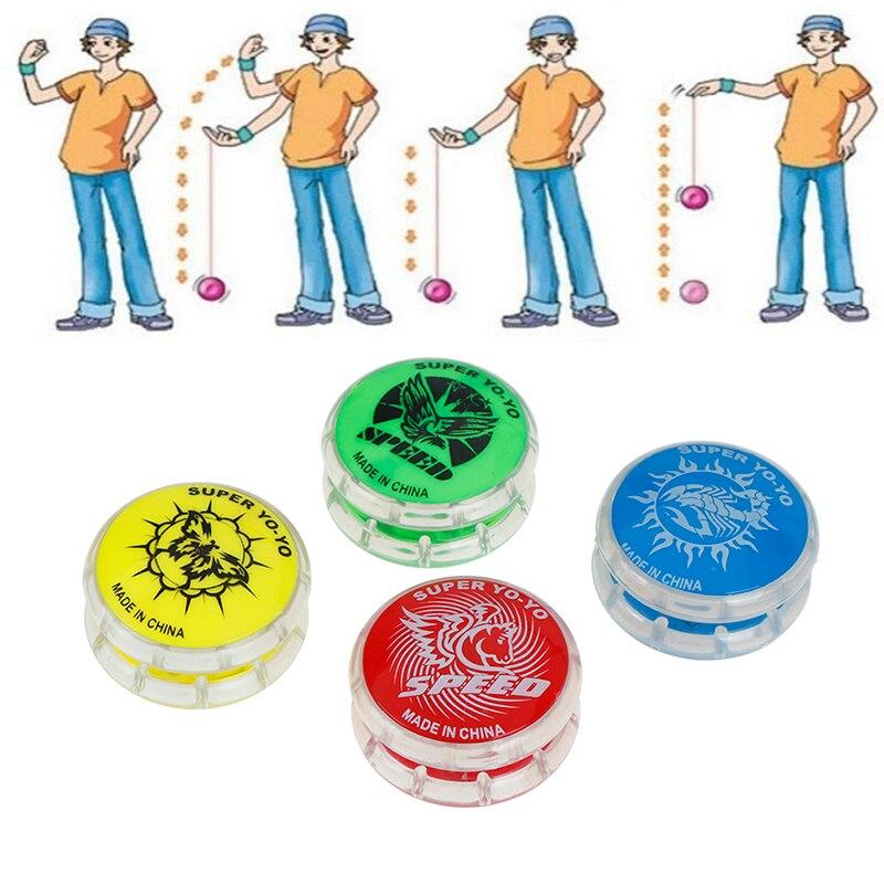 1Pcs Funny Pull Yo-Yo Ball Toys Magic Yoyo Ball Toys For Kids Colorful Plastic Easy To Carry Yo-yo Toy Party Boy Classic Gift