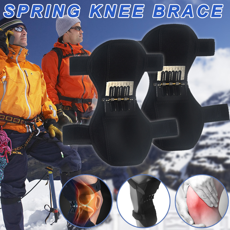 Droppshiping 1Pair Patella Booster Spring Knee Brace Support For Mountaineering Squat Hiking Sports J55