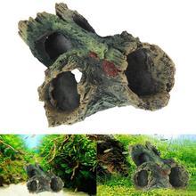 Equipment-Accessories Aquarium-Decor Tree-House Cave-Stone Mountain-Fish-Tank Rockery