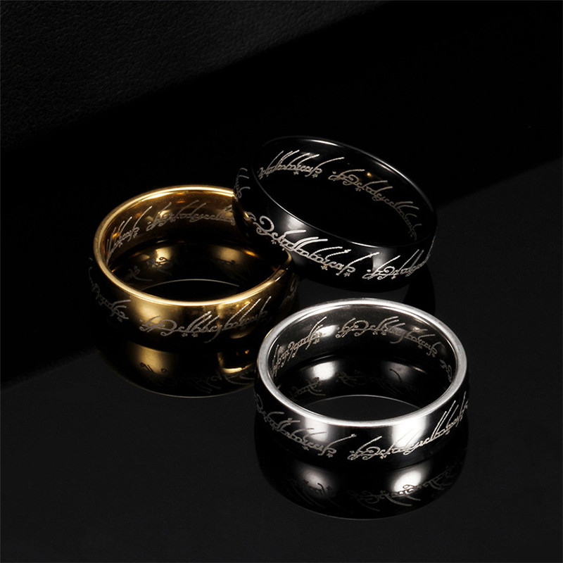 ZORCVENS 2020 Midi Stainless Steel One Ring of Power Gold Color Wedding Ring Lovers Women Men Fashion Jewelry Wholesale
