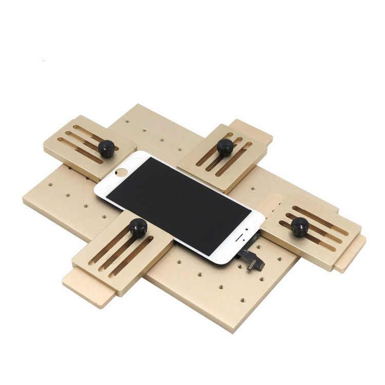 Le moule fixe universel de stratifié d'oca d'affichage à cristaux liquides de téléphone d'alliage d'aluminium remplacent le support en verre de moule de colle UV d'affichage à cristaux liquides pour l'iphone Samsung