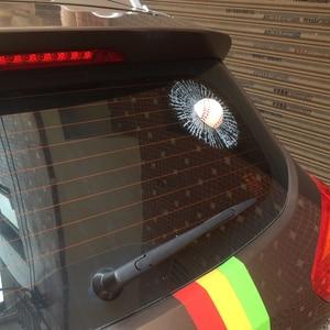 Image 5 - 3D Auto Aufkleber Auto Ball Hit Körper Fenster Aufkleber Self Adhesive Aufkleber