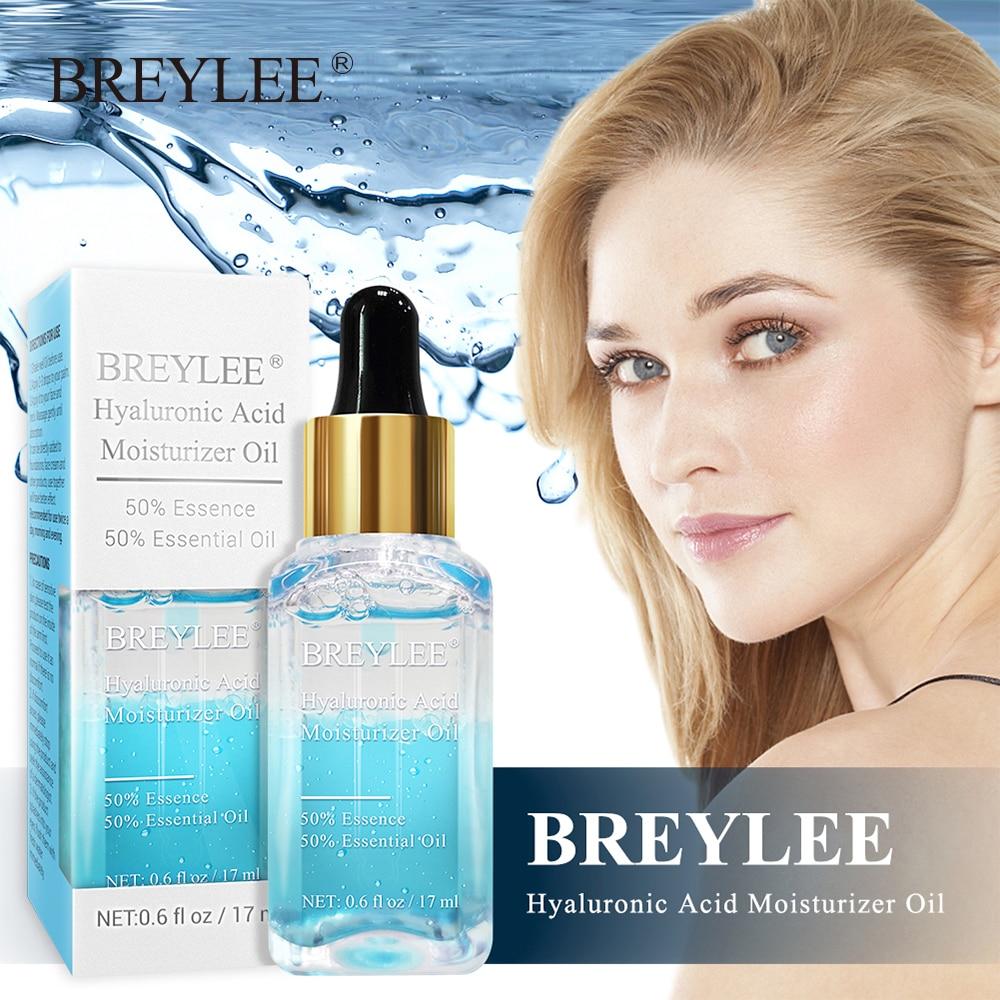 BREYLEE Hyaluronic Acid Essential Oil Moisturizer Nourishing Facial Serum Anti-Aging Wrinkles Whitening Face Skin Care Essence