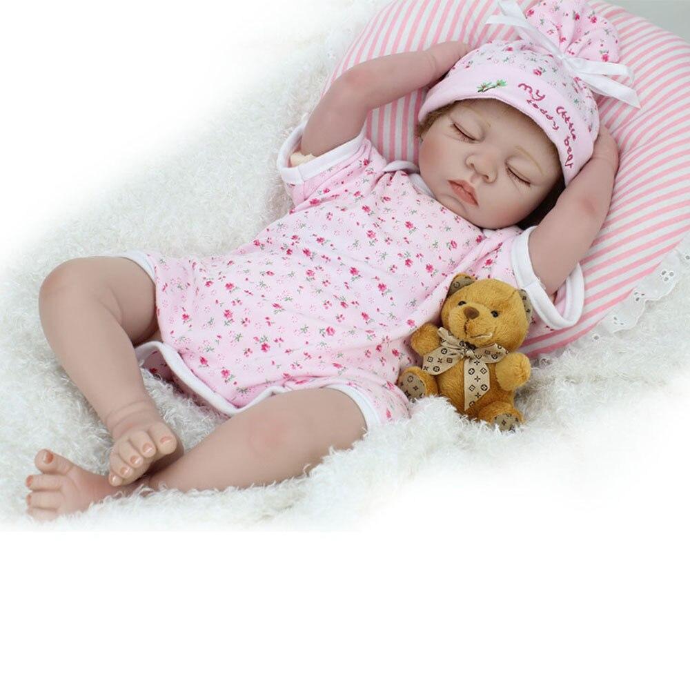 Metoo yeux fermés poupée en peluche peluche chiffon poupée 3/4 silicone reborn bébé poupée pour enfants jouet Angela poupée filles cadeau d'anniversaire jouet bjd