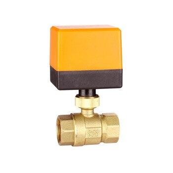 AC220V /24V DC12V/24V  2 way brass valve Motorized ball valve  Electric ball valve lectric actuator  DN15 DN20 DN25 DN32 DN40 metal gear high quality motorized valves tf15 b2 series brass dn15 1 2 dc5v 12v 24v 2 way electric valves fast closed valve