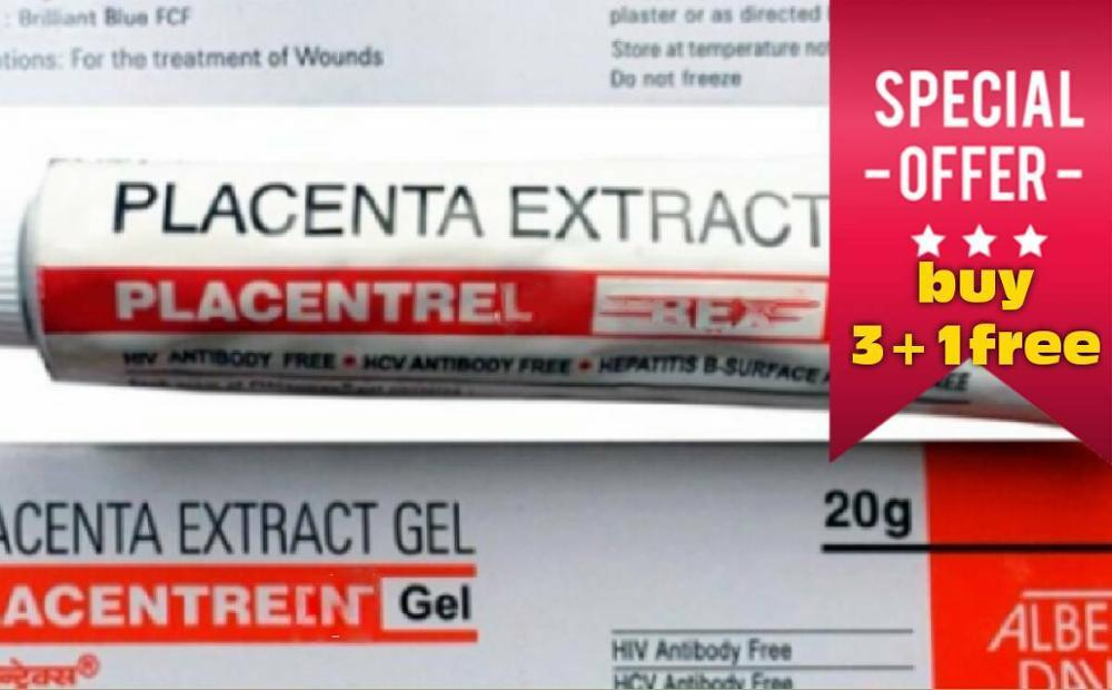 PLACENTA EXTRACT GEL 20g Placentrex Gel ANTI WRINKLE SKING LIGHTENING BEAUTY FACE CARE