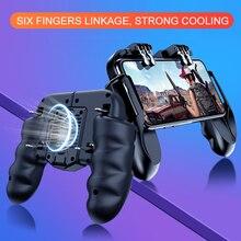 Smartphone Kühler Kühlung für Smartphone Mit Controller Gamepad 6 Finger Bedienung Joystick Kühler Batterie