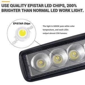 Image 3 - Luz LED de trabajo DRL para todoterreno foco reflector de luz diurna de 6 pulgadas, 18W, 12V, 24V, para Jeep 4x4, ATV, 4WD, SUV, estilismo para coche