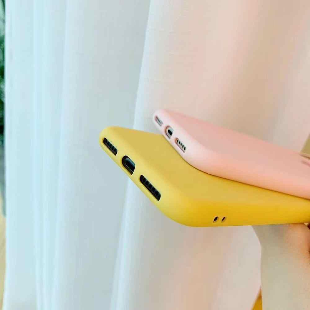 יוקרה סיליקון טלפון מקרה עבור iPhone X XS XR XS מקסימום 8 7 בתוספת 6 6S בתוספת מקרה עמיד הלם הגנה חזרה כיסוי