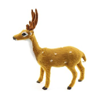 цена на Lovely Simulation Reindeer Christmas Ornament Plush Plastic Cute Deer Children Toy Christmas Tree Home Decorations