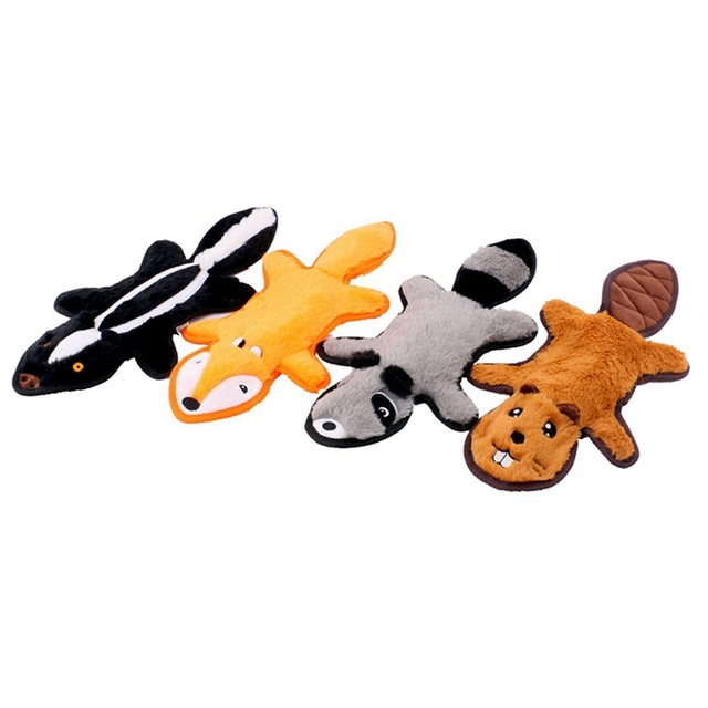 Dog Squeaky Toys No Stuffing Crinkle Dog Toys Durable Dog Chew Toys Plush Cute Animals Natural Puppy Pets Toys
