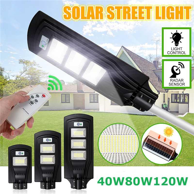 150/300/450LED Sensor Solar Panel Wall Street Light PIR Motion Lamp Waterproof IP67 50mm Mounting Pole For Outdoor Lighting