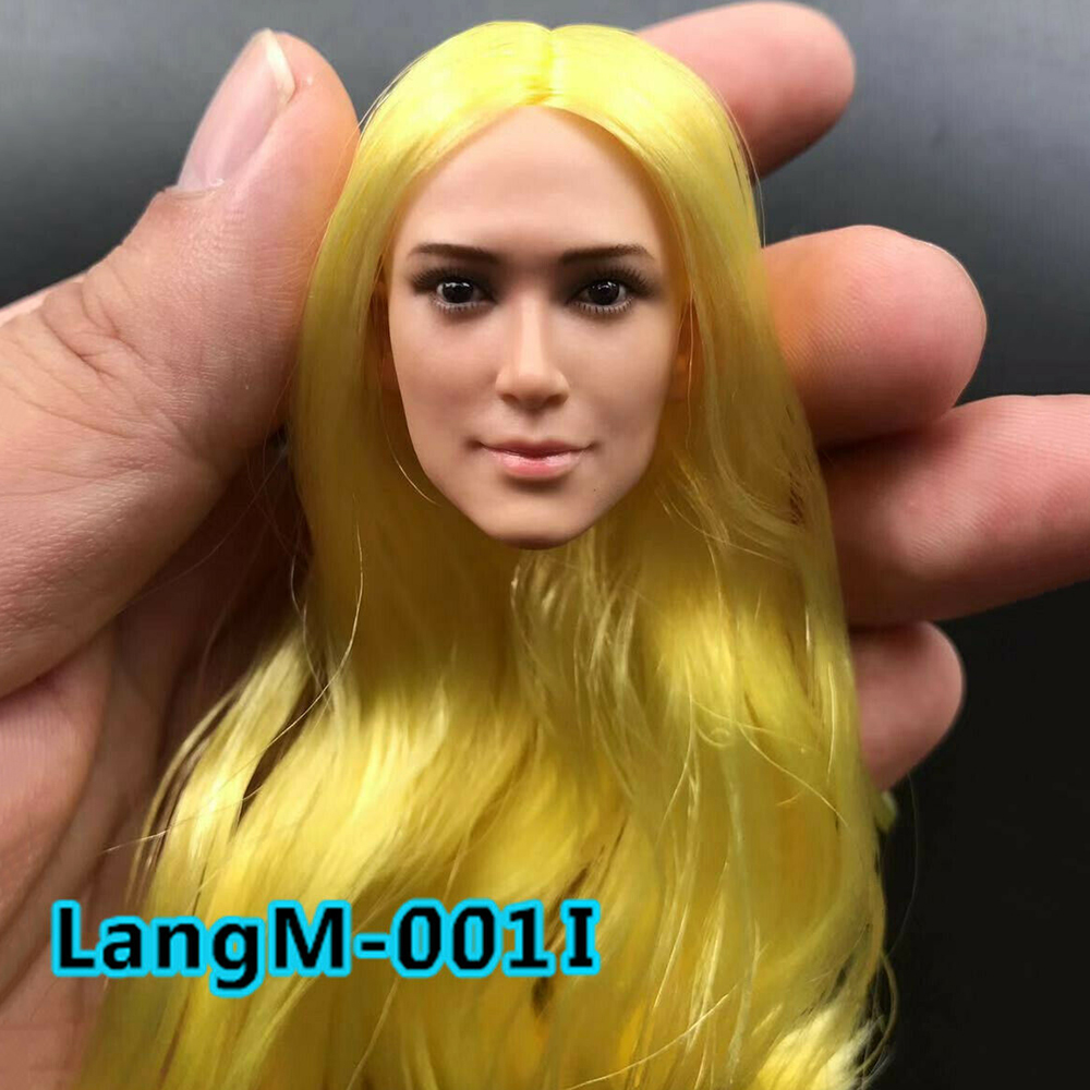 "1//6 YMTOYS Female Head Sculpt Long Golden Hair YMT019B Model F 12/"" Action Figure"