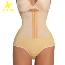 NINGMI High Waist Trainer Bodysuit Tummy Control Panties Butt Lifter Slim Body Shaper Women Shapewear Slimming Underwear Girdles