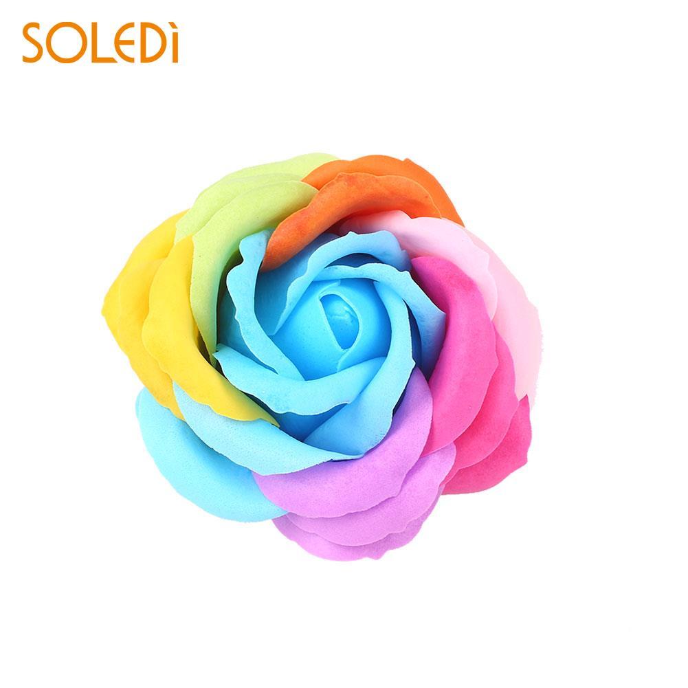 6 цветов, Подарочная коробка, искусственное Розовое Мыло, цветочный подарок, цветок, лепесток, День Святого Валентина, декор для отеля, вечерние, яркие, красивые - Цвет: blue