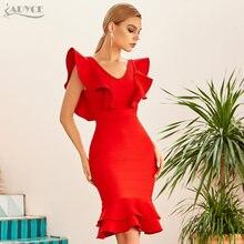 Adyce 2021 новые летние женские сандалии красного цвета с рюшами