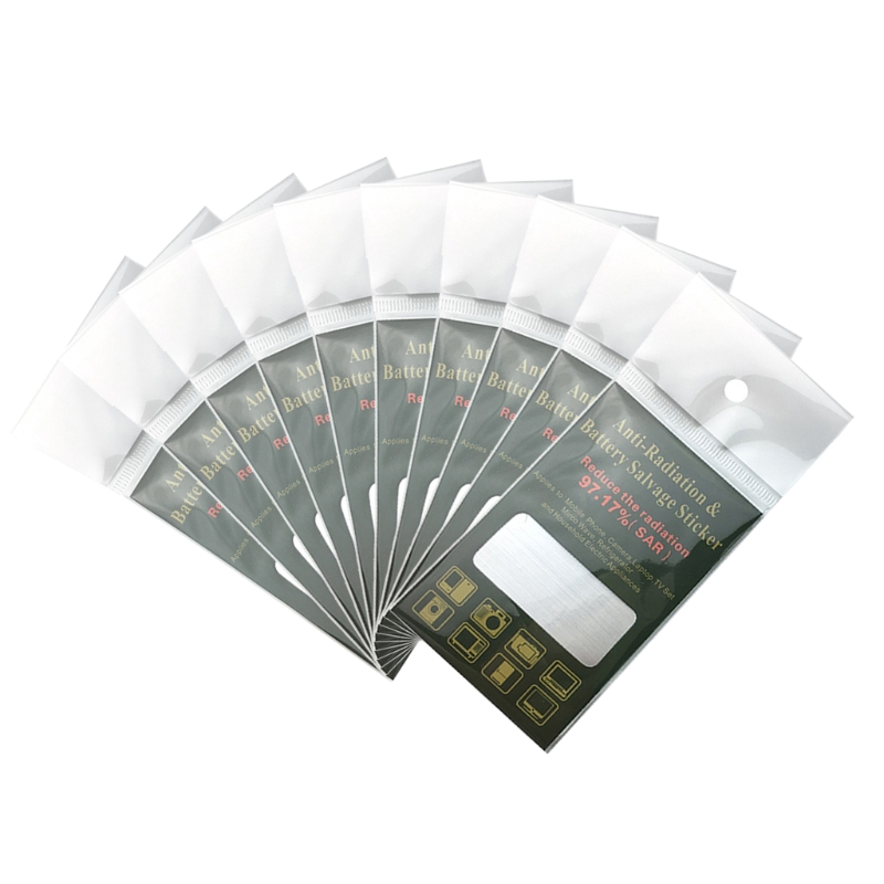 10pcs Anti Radiation Protector Shield EMF Protection Mobile Cell Phone Stickers silver color