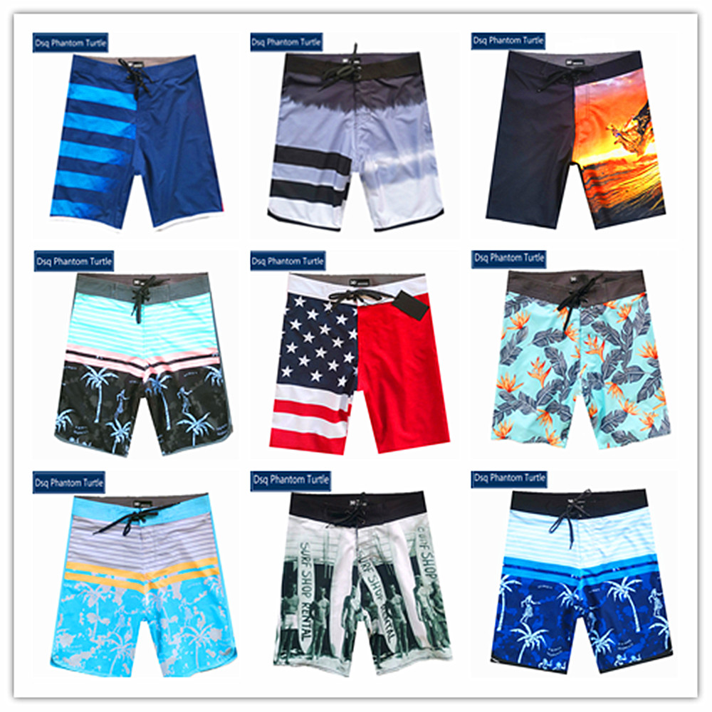 Pandaie Mens Pants Shorts New-Men Printed Swim Trunks Plaid Printing Beach Surfing Shorts Boardshorts Bathing Shorts