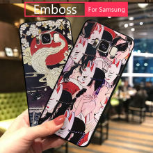 Voor Samsung S10 Case Back Cover Emboss Siliconen Voor Samsung Galaxy note 9 8 S8 S9 S10 plus s10E japanse telefoon Gevallen Cartoon 3D(China)