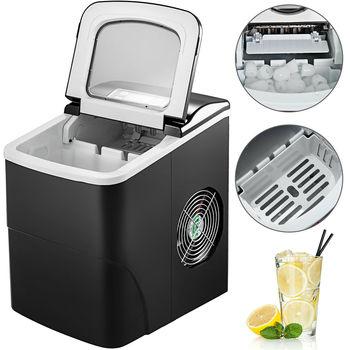 Máquina de hielo portátil de 12 kg/24 H, tanque de agua de 2,2 litros, cocina, bala, fabricación rápida de hielo con panel LCD, control simple