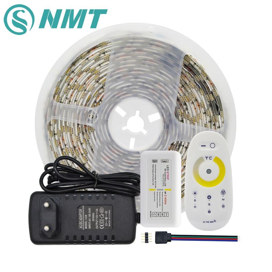 Набор светодиодных лент CCT, водонепроницаемая/не водонепроницаемая лента SMD 5050, 60 светодиодов/м, светодиодный светильник с пультом дистанци...
