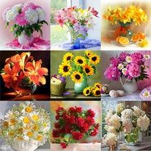 diamond embroidery flowers 5d diy painting cross stitch rose peony mosaic rhinestones home Decor gift