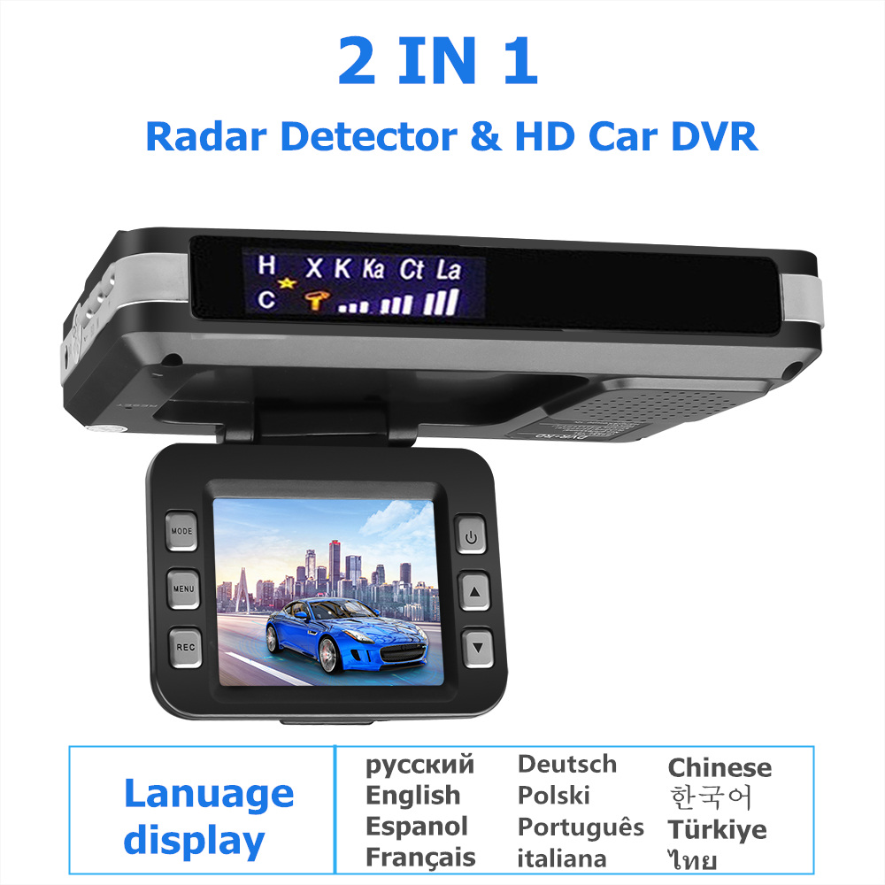 3-In-1 Car-Dvr-Radar-Detector Speed-Alarm G-Sensor Russian-Voice Fixed/Flow-Radar Built-In title=