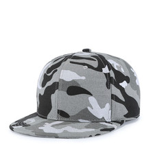 New Fashion High Quality Camouflage Cap Flat Peak Men Hip Hop Hat Cotton