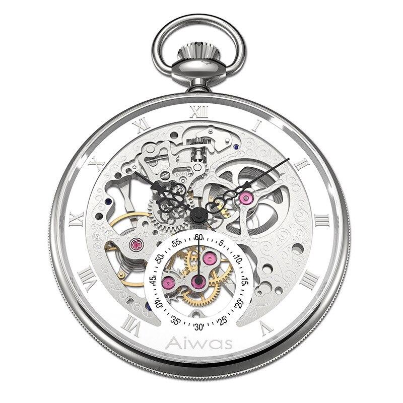 Карманные часы ожерелье ручной Ветер Механический Топ бренд Роскошный полый винтажный Римский калибровочный джентльмен дамы мужчины женщины часы