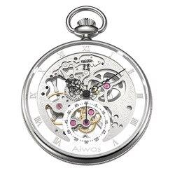 Zakhorloge Ketting Hand Wind Mechanische Topmerk Luxe Hollow Vintage Rome Kalibratie Gentleman Dames Mannen Vrouwen Horloge