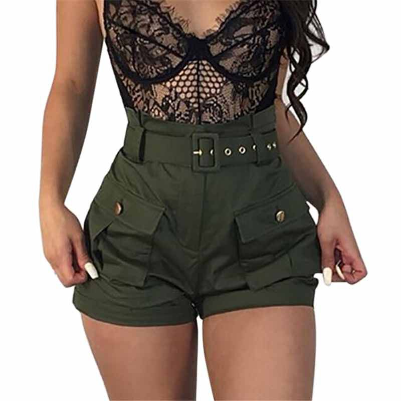 Women's Solid Color Casual Wide Leg  Slim Waist Summer Loose Pocket Shorts