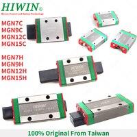 Free Shipping  HIWIN MGN series linear guide slider block MGN7C MGN9C MGN12C MGN15C MGN9H MGN12H MGN15H guide block carriages|Linear Guides| |  -
