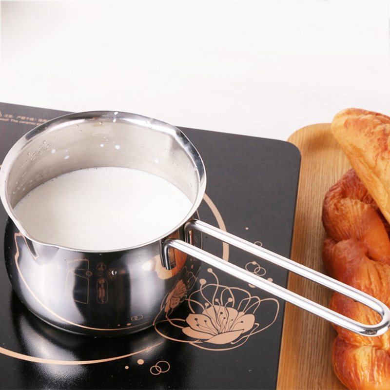 Non-Stick Pan Milk Pot Butter Chocolate Melted Heating Pot Warmer Pan Small Saucepan Cheese Pot With Pour Spouts