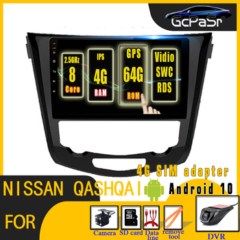 Android 10.0 Car Radio Multimedia Video Player for Nissan X-Trail Qashqai j11 j10 Radio 2014 2015 2016 2017 2018 2019 GPS Navi image