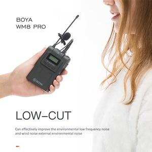 BOYA-Sistema de micrófono inalámbrico WM8 Pro-K1K2 UHF, receptor de grabadora de Audio y vídeo para cámara profesional Canon, Nikon y Sony