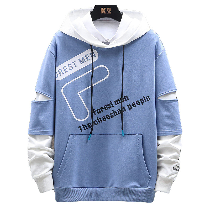 Fanwo FW5880 2020 Summer New Style Fashion Men Printed Letter Hoodie Casual Long-sleeved Sweater 5