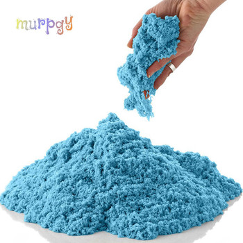 100g Dynamic Sand Toys Educational Colored Soft Magic Slime Space Sand Supplie Indoor Arena Play Sand Kids Toys for Kids 1