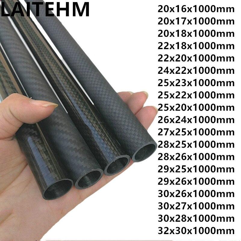 3k carbon fiber tube outer diameter 20 21 22 23 24 25 26 27 29 30 mm length :1000mm