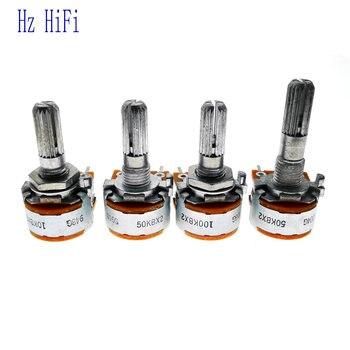 3 uds. Nuevos y originales potenciómetros rotativos de doble Unidad de Audio...