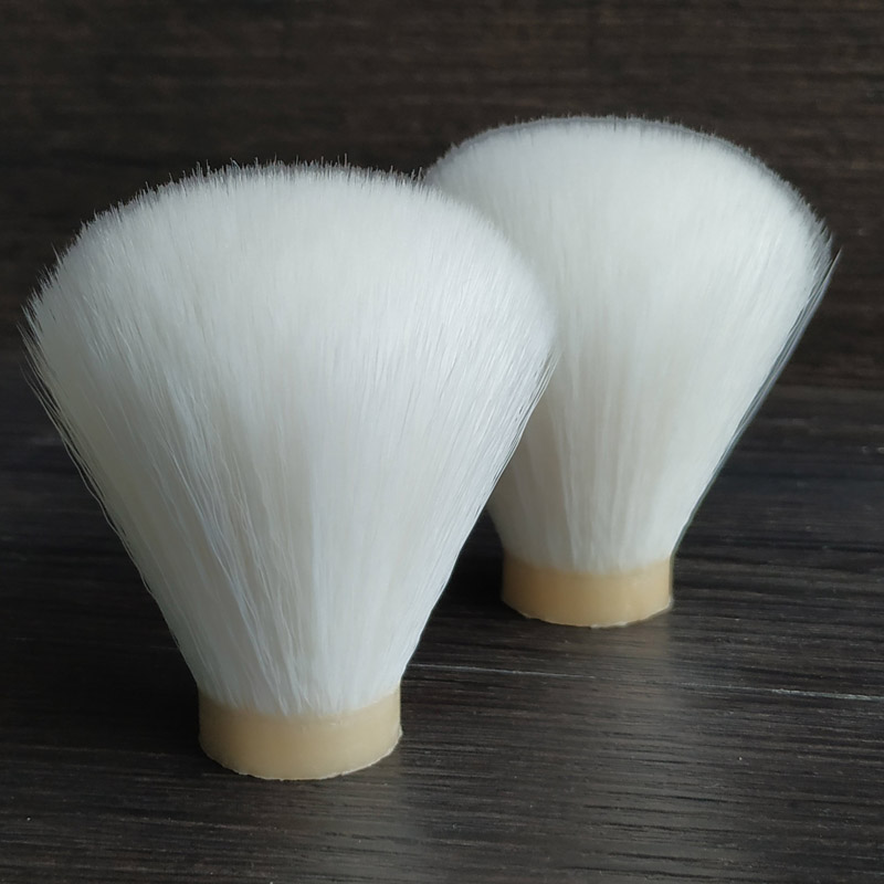 Dscosmetic Snow White Synthetic Hair Shaving Brush Knots