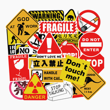 50個警告ステッカークール防水パロディー落書きスケートボードパッド車のラップトップスノーボード自転車荷物デカールfacegoo lite