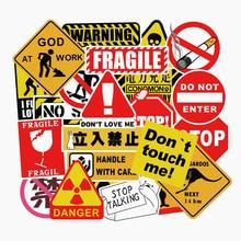 50Pcs אזהרת מדבקות מגניב עמיד למים לזייף גרפיטי סקייטבורד כרית רכב מחשב נייד סנובורד אופניים מטען מדבקות FaceGoo לייט