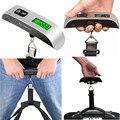Портативные электронные весы для багажа, цифровой подвесной чемодан с ЖК дисплеем, дорожная сумка, 50 кг/10 г