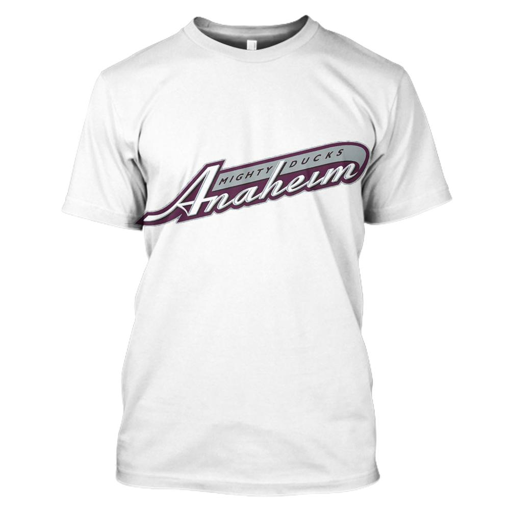 Новое поступление, футболка Anaheim Duck, Повседневная Уличная футболка с коротким рукавом, Camisetas Hombre, футболка с 3D буквенным принтом