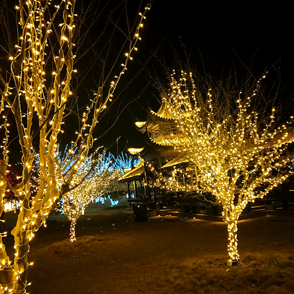 LED Christmas Lights String The Sky Star Flashing Lights Outdoor Led Decoration Lights Shopping Mall Outdoor String Wire Lights